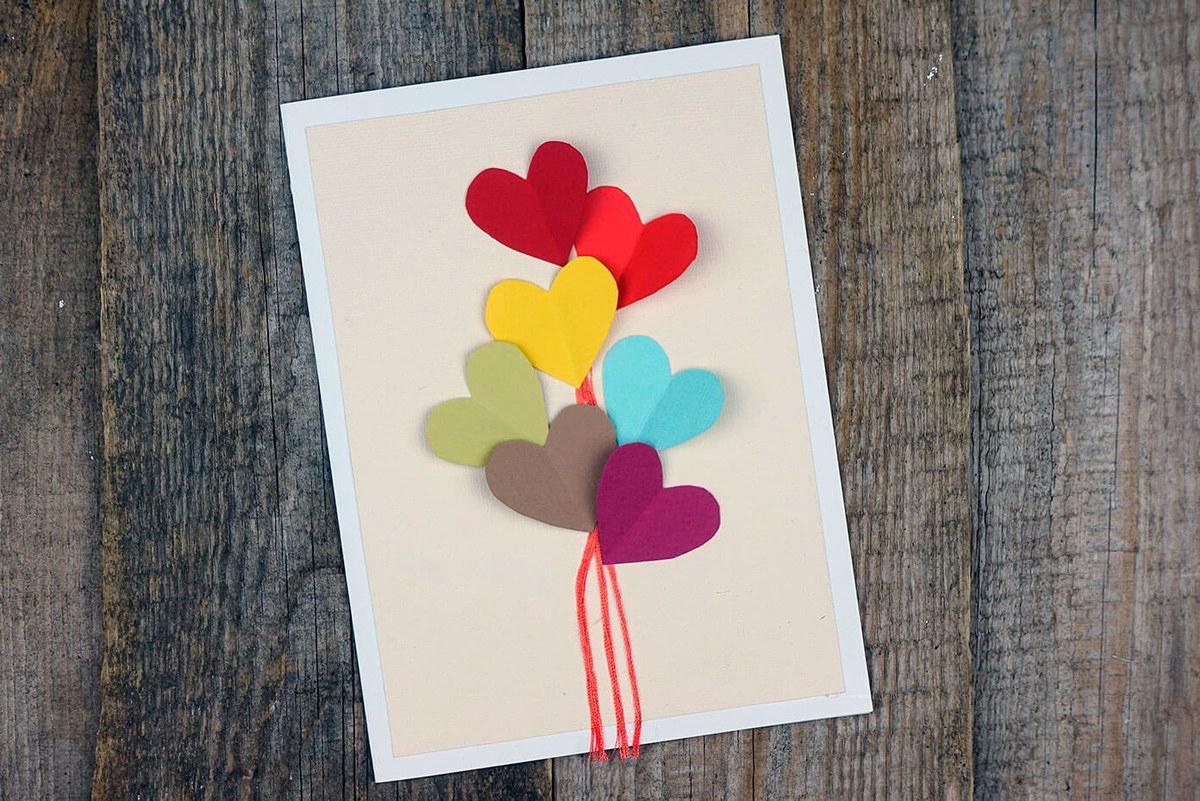 Несложные открытки своими руками для детей